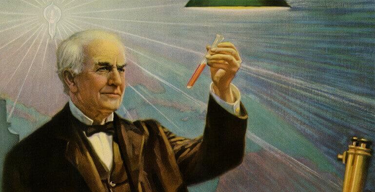 ادیسون چگونه برق را اختراع کرد؟